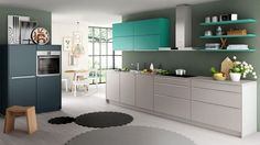 Make a statement in your kitchen with contrasting kitchen cupboards