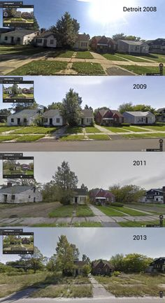 Detroit Before And After - This has always been my favourite city.  I'm so sad about the economic crisis in Motown!