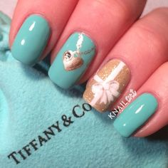 The lowest discount and the latest hot tiffany jewellery online classic tiffany co inspired nail design with heart locket by knailart prinsesfo Images