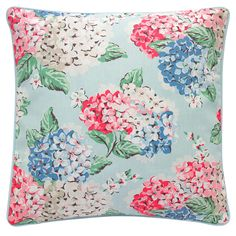 Hydrangea Regular Cushion With Piping And Cushion Pad | Accessories | CathKidston