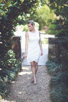 Get this white lace dress before they're all gone! Shop Entourage for all of your bridal event needs for under $42! #wedding #bridal #shopentourage