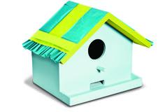 Happy Birds Birdhouse   #ScotchStyle http://scotchducttape.com/projects/happy-birds-birdhouse