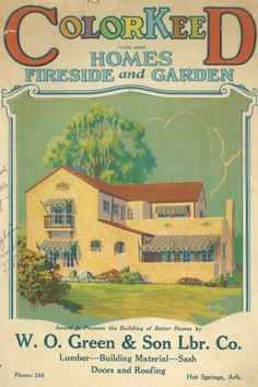 ColorKeed home plans (1927) from W. O. Green & Son Lumber Co.