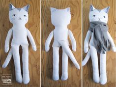 18 cat doll sewing pattern and tutorial dress up girl boy toy diy cloth fabric cotton play sew gift cotton step by step wip 🐾 I started this about a week ago. I am a cat person (I have and I was curious to see how my doll pattern would PDF sewing patte Sewing Crafts, Sewing Projects, Sewing Toys, Bowtie Pattern, How To Make Scarf, Doll Sewing Patterns, Fabric Toys, Cat Doll, Sewing Basics