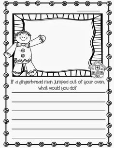 Gingerbread man writing prompt More
