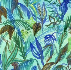 "Silvia Cairol | Design Studio (@silviacairolstudio) en Instagram: ""Jungle watercolor print #art #illustration #drawing #draw #picture #artist #sketch #sketchbook"