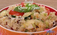 Comparte Recetas - Ensalada de Quinoa y Pepino