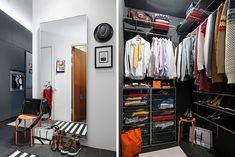 Home Design and Interior Design Gallery of Gorgeous Gray Modern Style Walk In Apartment Closet Ideas