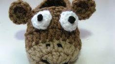 how to crochet toddler slippers - YouTube