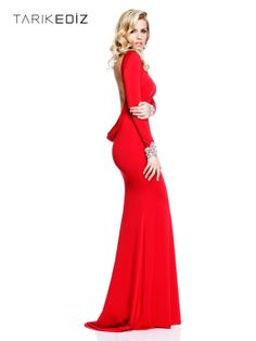 Aliexpress.com   Buy Elegant Long Sleeve Evening Dresses With Crystal Beaded  Red Chiffon Open. Party GownsProm ... 65f8c7436f84