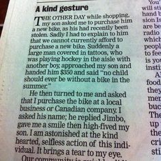 WOW - you have to read these 16 Unbelievable Acts Of Kindness - it will totally make you cry (but in a good way)!