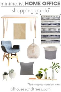 Apr 2020 - Creating a space that helps you feel peaceful and productive is the key to work-at-home success. And these home office decor items will do just that! Home Office Design, Home Office Decor, Modern House Design, Home Decor, Minimalist Office, Minimalist Decor, Cubicle Design, Sustainable Furniture, Sustainable Design