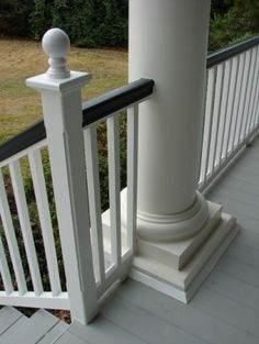 very good details on a porch.  note the Charleston green top rail