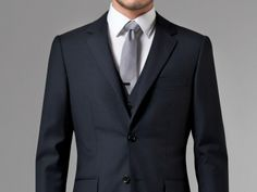 Essential Navy Three-Piece Suit 1 $519 @ indochino