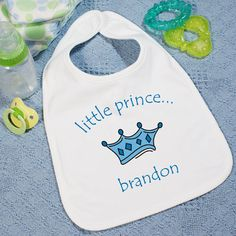 Personalized Little Prince Baby Bib