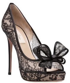 Valentino Black Lace Pumps