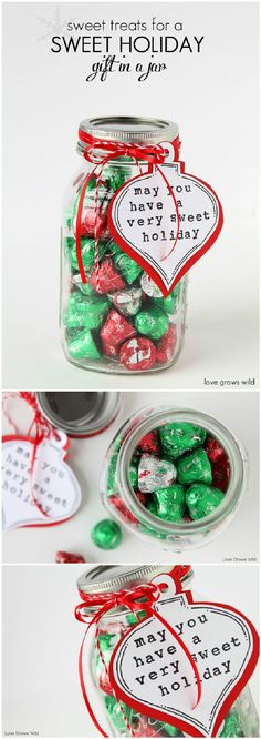 DIY Sweet Treat Mason Jar Holiday Gift - 160+ DIY Mason Jar Crafts and Gift Ideas - Page 6 of 17 - DIY & Crafts