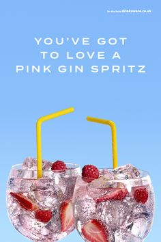 Our Gordon's Pink Spritz is the perfect festive cocktail recipe and you only need four ingredients to make it! Buy some of our Gordon's Pink Gin, mix with lemonade, prosecco and garnish with strawberries, then serve to your party guests. Gin And Prosecco Cocktail, Pink Gin Cocktails, Gin Cocktail Recipes, Festive Cocktails, Christmas Cocktails, Cocktail Drinks, Cocktail Ideas, Summer Cocktails, Party Drinks