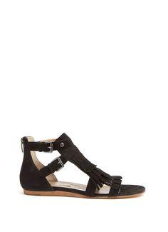 Black Sienna Fringe Sandal | Limited Edition | MintVelvet #MintVelvet #SS15 #MVSS15