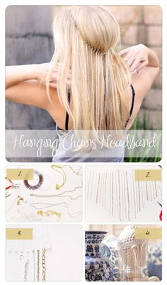 7 DIY fashion projects -  Hanging chains headband