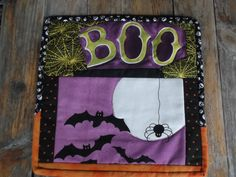 mug rug / snack mat for fall, halloween by BlackBrookCreations on Etsy
