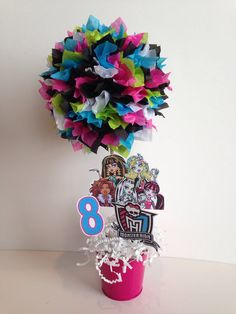 Monster High birthday party decoration by AlishaKayDesigns on Etsy