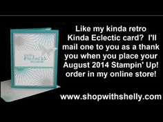 ▶ Stampin' Up! Kinda Eclectic for a Kinda Retro Card - YouTube