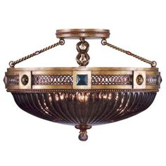 Byzance No. 609440 Semi Flushmount by Fine Art Lamps