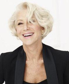 Modern Short Hairstyles, Bob Hairstyles, Short Hair Styles, Short Blonde, Blonde Hair, Great Cuts, Helen Mirren, Advanced Style, Going Gray
