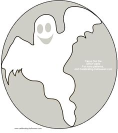 friendly ghost pumpkin stencil