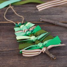 It doesn't get easier than this: Round up some sticks from your yard then tie on festively colored ribbons in varying lengths. Bam! Done. Get the tutorial at Fireflies and Mudpies.