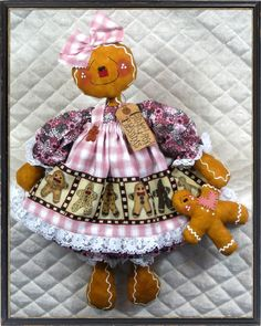 gingerbread dolls! I don't sew but I love this  is there are any sewers following me!!!!!