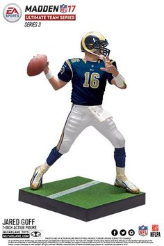 Jared Goff (Los Angeles Rams) EA Sports Madden NFL 17 Ultimate Team Series 3 McFarlane case of 8