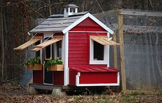 """Describe 'Holland Chicken Coop """"Arthur's Place""""' here Arthur's Place is a re-purposed piece. It was a child's play house in it's previous life. Being made of all cedar and in great condition it was the perfect base for us to start with. My..."""