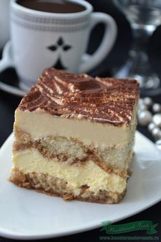 Romanian Desserts, Romanian Food, Tiramisu Recipe, No Cook Desserts, Pastry Cake, Ice Cream Recipes, Chocolate Recipes, Baked Goods, Cheesecakes