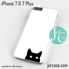 Watching black cat Phone case for iPhone 7 and 7 Plus