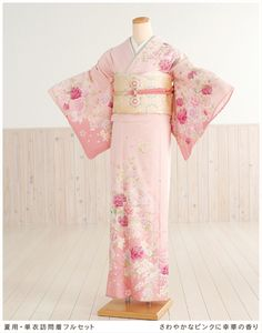 "Summer for unlined Houmongi rental refreshing scent sh1001 [full set] of SaiwaiHana in Pink ""rental Houmongi"" ""kimono rental"" [shrine] [costumer] [Tea Party] [unlined] [Summer] [summer] [June] [July] [August] [September] [wedding] [cool] ★ round trip ★ Free Shipping smtb-k] [kb]"