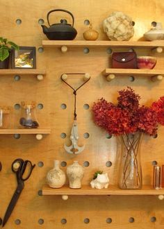 Picture of DIY Big Peg Board Shelving System