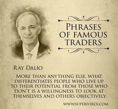 Phrases of famous traders #SuperForex #Forex #Trading #Broker #Traders #Famous #Dalio