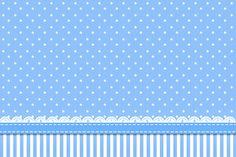 Poá Azul e Listras - Kit Completo com molduras para convites, rótulos para guloseimas, lembrancinhas e imagens! - Fazendo a Nossa Festa |