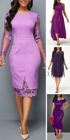 Long-sleeved shift dress with zipper at the back #dress #shift #sleeved #zipper