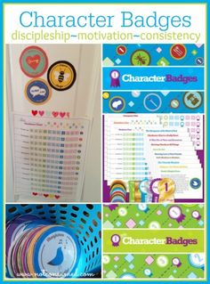 Character badges---> discipleship, motivation and consistency! This program is simple to use and perfectly effective!