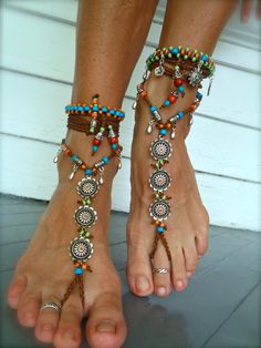 Slave anklet or boho wedding sole-less sandals Hippie Style, Hippie Man, Boho Gypsy, Hippie Boho, Bohemian Shoes, Bohemian Rings, Bohemian Summer, Bohemian Bracelets, Boho Jewelry