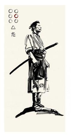 7 samurais, Akira kurosawa artworks