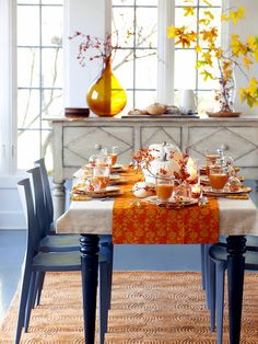thanksgiving dining room table decorating ideas - Internal Home Design
