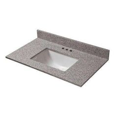 Shop and Save on a variety of bathroom fixtures and faucets from Cahaba. The Cahaba 37 in. x 19 in. Napoli Granite Vanity Top with a Single White Trough Basin offers a sleek and modern look to your bath area. Granite Bathroom, Granite Vanity Tops, Best Bathroom Vanities, Single Bathroom Vanity, Bathroom Ideas, Bathroom Wall, Trough Sink, Porcelain Sink, A 17