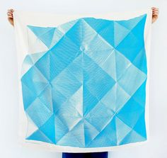 Folded Paper Furoshiki Blue   Furoshiki by thelinkcollective