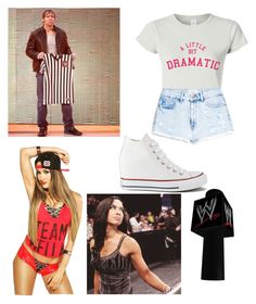 """""""Finding out Dean is the Special Guest Referee for your match against Aj-Cecilia"""" by cecilia-bella ❤ liked on Polyvore featuring MANGO, Converse and Champion"""