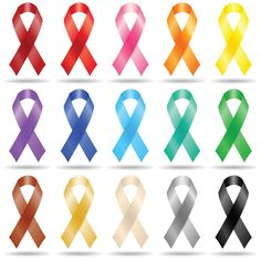 Cancer ribbons celebrate those with cancer, but which ribbon goes with which cancer, and what color covers all cancers?