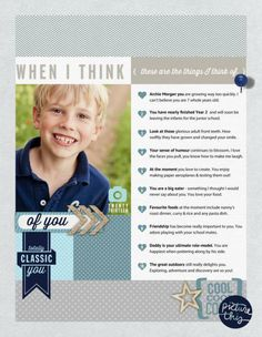 Things I love about you...Scrapbook page by Georgeinci using template by Cathy Zielske